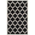 Safavieh Amherst Indoor/ Outdoor Anthracite/ Ivory Rug (3' x 5')