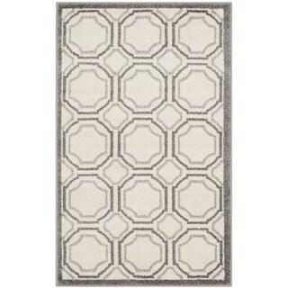 Safavieh Amherst Indoor/ Outdoor Ivory/ Light Grey Rug (2'6 x 4')