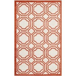 Safavieh Amherst Indoor/ Outdoor Ivory/ Orange Rug (2'6 x 4')