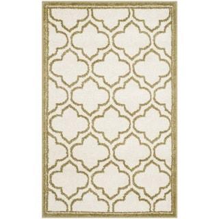 Safavieh Amherst Indoor/ Outdoor Ivory/ Light Green Rug (2'6 x 4')