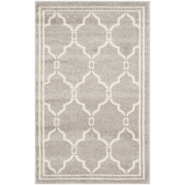 Safavieh Amherst Indoor Outdoor Light Grey Ivory Rug 3