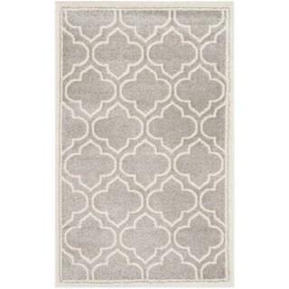 Safavieh Amherst Indoor/ Outdoor Light Grey/ Ivory Rug (2'6 x 4')