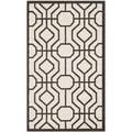 Safavieh Amherst Indoor/ Outdoor Ivory/ Brown Rug (3' x 5')