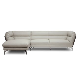 Baxton Studio Quall Gray Modern Sectional Sofa - Left Facing Chaise
