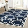 Safavieh Amherst Indoor/ Outdoor Navy/ Ivory Rug (3' x 5')