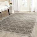 Safavieh Amherst Indoor/ Outdoor Light Grey/ Ivory Rug (3' x 5')