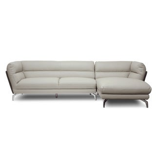 Baxton Studio Quall Gray Modern Sectional Sofa - Right Facing Chaise