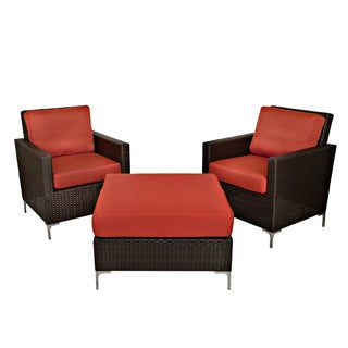 angelo:HOME Napa Springs Tulip Red 3 Piece Set Indoor/Outdoor Resin Wicker