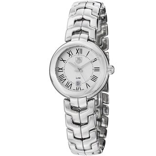 Tag Heuer Women's 'Link' Silver Dial Stainless Steel Quartz Watch WAT1416.BA0954