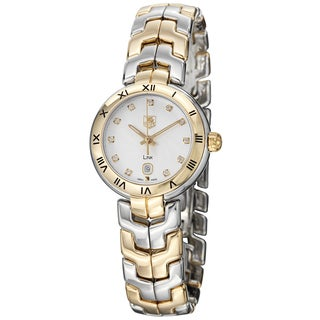 Tag Heuer Women's 'Link' Silver Dial Stainless Steel Gold Watch WAT1450.BB0955