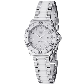 Tag Heuer Women's 'Formula 1' White Dial Ceramic Stainless Steel Watch WAH1315.BA0868