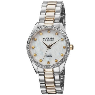 August Steiner Women's Quartz Mother of Pearl Dial Bracelet Watch