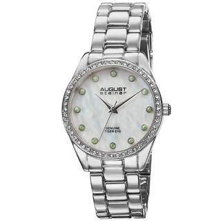 August Steiner Women's Quartz Mother of Pearl Dial Bracelet Watch