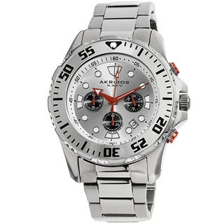 Akribos XXIV Men's Quartz Chronograph Stainless Steel Bracelet Watch