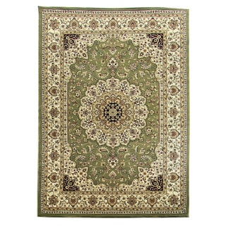 DonnieAnn 'Tiffany' Sage Green Oriental Area Rug (5' x 7')