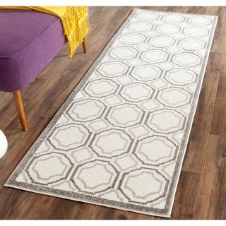 Safavieh Amherst Indoor/ Outdoor Ivory/ Light Grey Rug (2'3 x 7')