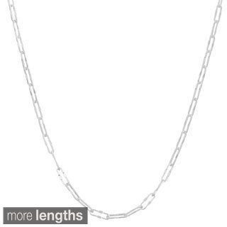 Fremada Sterling Silver 3.6-mm Fancy Long Cable Necklace (16-30 inch)