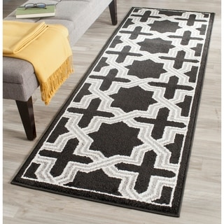 Safavieh Amherst Indoor/ Outdoor Anthracite/ Grey Rug (2'3 x 7')