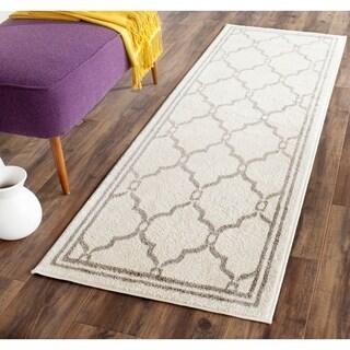 Safavieh Amherst Indoor/ Outdoor Ivory/ Grey Rug (2'3 x 7')
