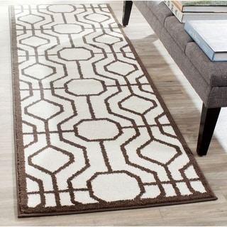 Safavieh Amherst Indoor/ Outdoor Ivory/ Brown Rug (2'3 x 7')