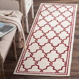 Safavieh Amherst Indoor/ Outdoor Ivory/ Red Rug (2'3 x 7')
