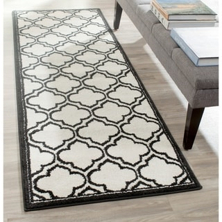 Safavieh Amherst Indoor/ Outdoor Ivory/ Anthracite Rug (2'3 x 7')