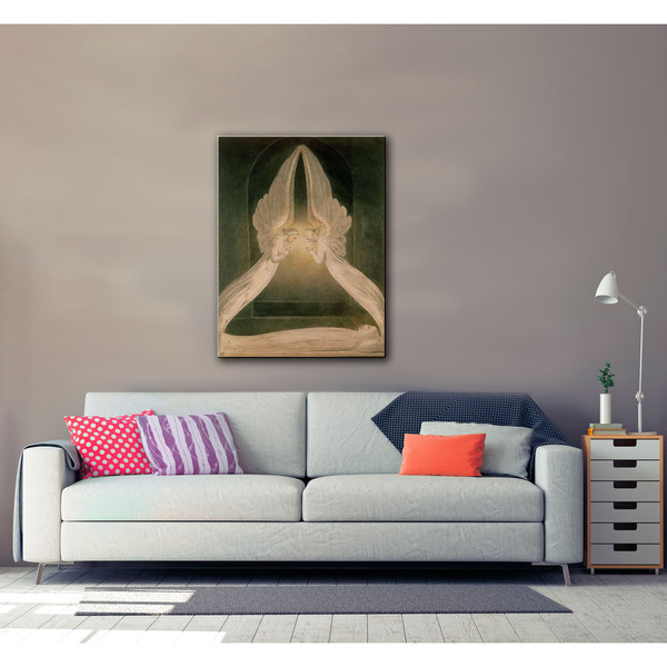 ArtWall William Blake 'Christ in the Sepulchre, Guarded by Angels' Gallery-wrapped Canvas