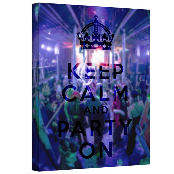 ArtWall Art D. Signer 'Keep Calm and Party On' Gallery-wrapped Canvas