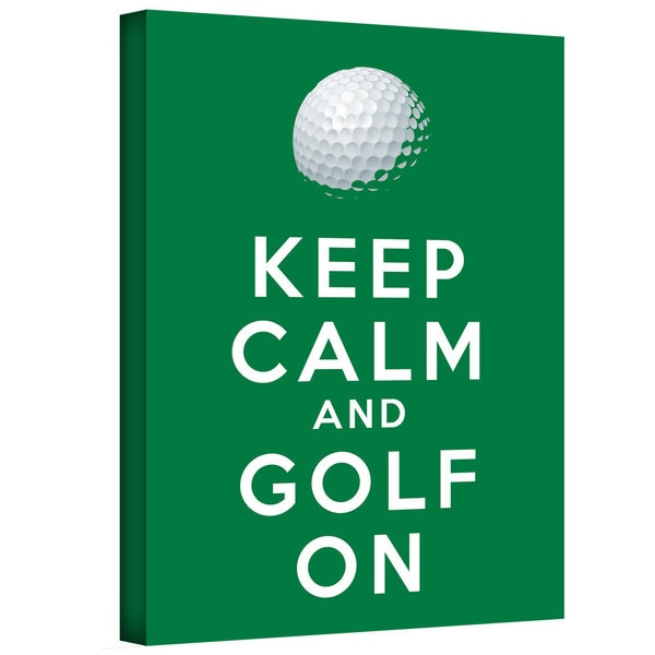 ArtWall Art D. Signer 'Keep Calm and Golf On' Gallery-wrapped Canvas