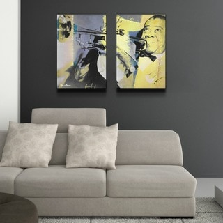 Alexis Bueno 'The Color of Jazz XVI' Oversized 2-piece Canvas Wall Art