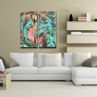 Alexis Bueno 'The Color of Jazz XIV' Oversized 2-piece Canvas Wall Art