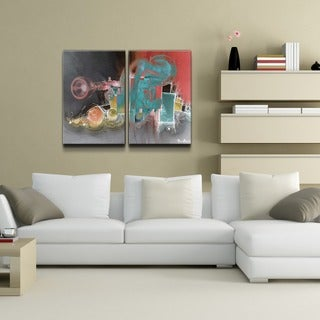 Alexis Bueno 'The Color of Jazz XIII' Oversized 2-piece Canvas Wall Art