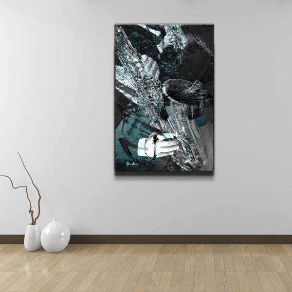 Alexis Bueno 'The Color of Jazz VIII' Oversized Canvas Wall Art