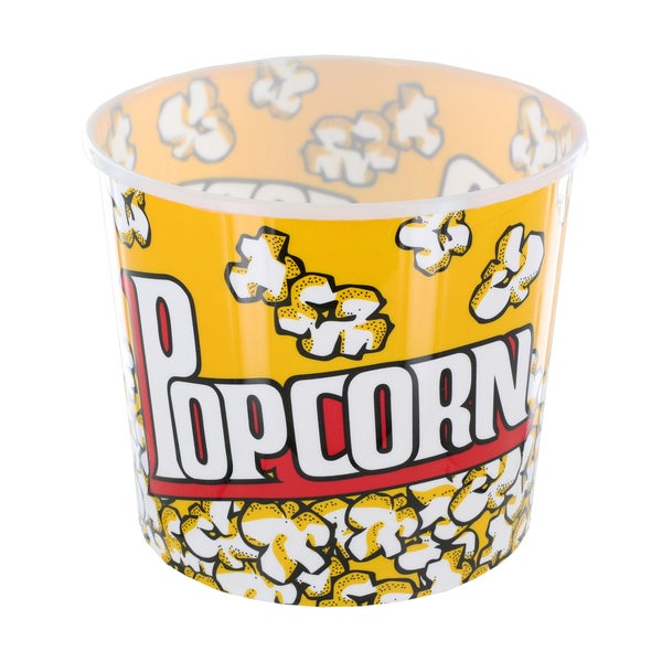 Large Yellow Cinema-Style Popcorn Holder Bucket 12552918