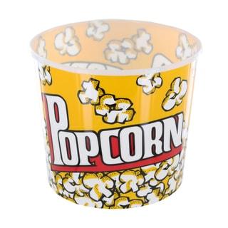 Large Yellow Cinema-Style Popcorn Holder Bucket