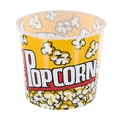 Large Yellow Cinema-Style Popcorn Holder Bucket