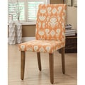 Parson Orange/ Cream Ikat Damask Dining Chairs (Set of 2)