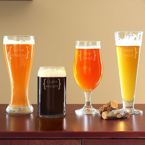 Specialty Clear Beer Glasses (Set of 4)