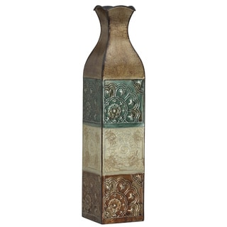 Elements 24-inch EMB Metal Suzani Tile Vase