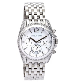 Michael Kors Women's MK5834 Pressley Glitz Chronograph Stainless Steel Watch