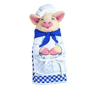 Chef Pig Quilted Cotton Oven Mitt