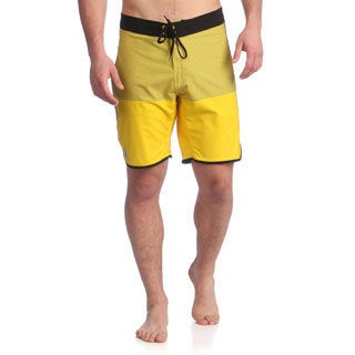 Zonal Men's Cyber Yellow Stretch Anchor Boardshorts