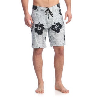 Zonal Men's 'Hibo' Bright White Stretch Boardshorts