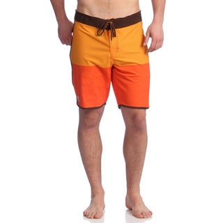 Zonal Men's 'Anchor' Mandarin Orange Stretch Boardshorts