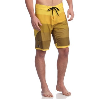 Zonal Men's 'Gradual' Cyber Yellow Stretch Boardshorts
