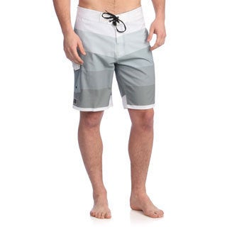 Zonal Men's 'Gradual' Neutral Grey Stretch Boardshorts