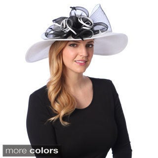 Swan Hat Women's Crinalin Bow Floppy Hat