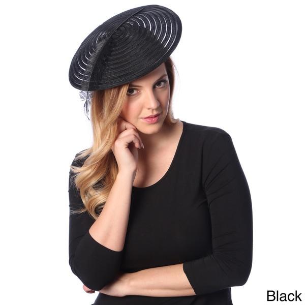 Swan Hat Women's Organza Packable Fascinator Hat