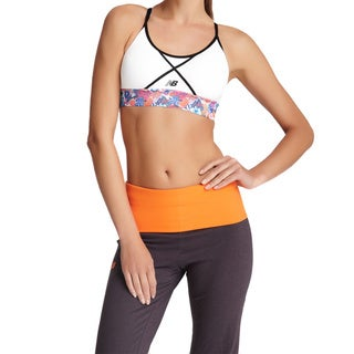 New Balance Women's White Moisture Control Double-strap Sports Bra
