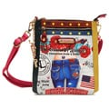 Nicole Lee 'Lucia' City Print Multicolored Crossbody Bag